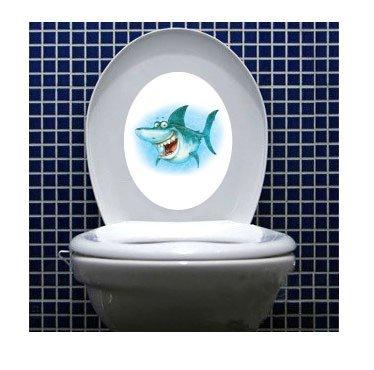 Boodecal Ocean Animals Undersea Wall Decals Shark Toilet Lid Cover Waterproof Peel and Stick Stickers for Bathroom Washroom -