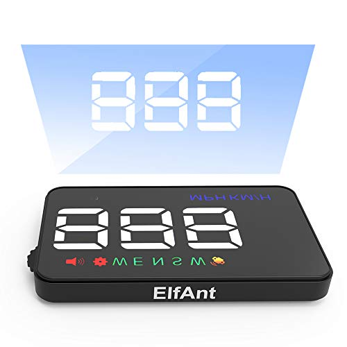 ElfAnt Universal Car Dash Board Head up Speedometers Digital Display GPS Dual Display Mode Prevent Speeding