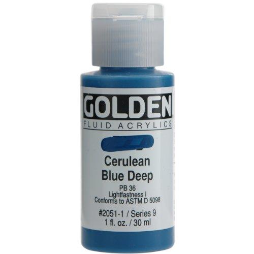 Golden Fluid Acrylic 1 Ounce Cerulean product image