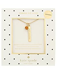 kate spade new york November Topaz Pendant Necklace
