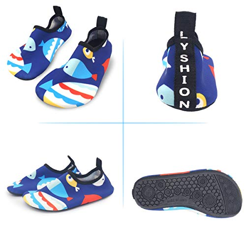 fish Swimming Dry Shoes for Unisex Quick Blue Barefoot LYSHION Ultra Socks Light Yoga Breathable Exercise Aqua Beach Water TgBwqq4