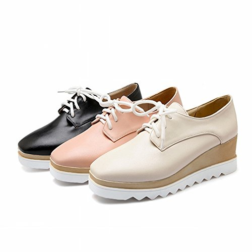 Square Shoes Fashion Color Shallow with Boots the Women's buff Head Women's Mouth Fight EUR35 6f6qPrw