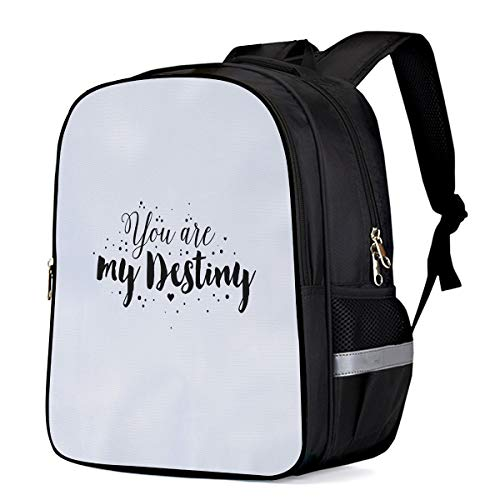 Kid School Backpack Shoulder Book Bag for Teenage Girls Boys,You Are My Destiny Child Schoolbag,16.1