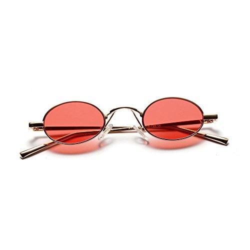 D de Negro Amarillo Burenqi Gafas Marcas Gafas A Mujer Tamaño Oval de Lujo de Pequeño diseñador de Unisex Vintage Gafas Rojo Sol Espejo de Sol g856wqd8