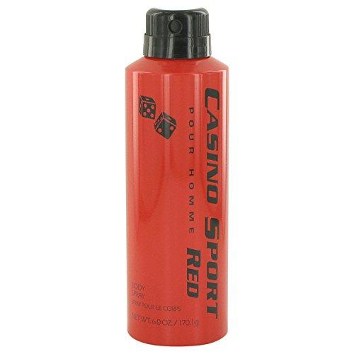 Casino Sport Red By Casino Parfums Body Spray 6 Oz ()