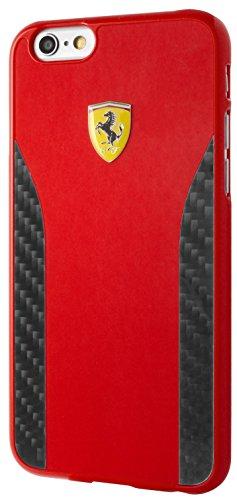 Ferrari FECCHCP6RE Daytona Glossy Malerei und Echt Carbon Hartschalen für Apple iPhone 6/6S rot