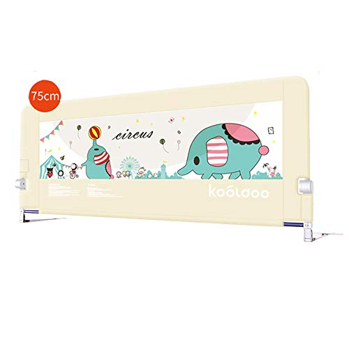 (Xyanzi-Bed Rails Child Bed Railing, Baby Fall Prevention Safety Fence Big Bed 1.8-2 Meters Bed Bezel, 3 Colors (Size : Beige-1.8M))
