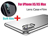 Sinwo New Metal Rear Camera Lens Case Cover Protector Accessory+Film for iPhone Xs/XS Max (Silver)