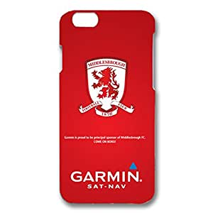 Middlesbrough Football Club Logo Personalized Design Customized Slim Durrable Plastic 3D Fantasy Case WRE580 for Iphone 6