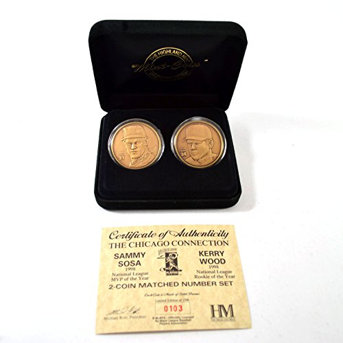 Highland Mint Sammy Sosa/Kerry Wood 2 Bronze Coin Set # out of (Highland Bronze Coin Set)