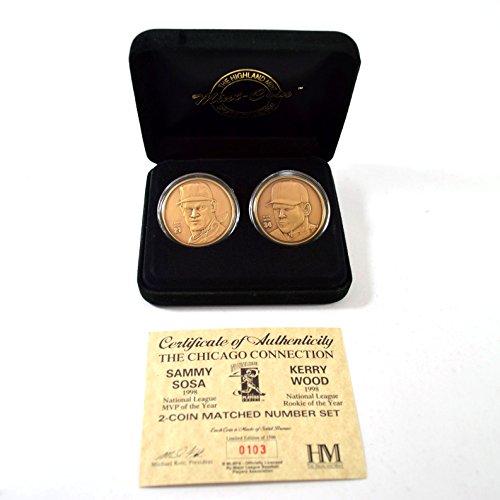 (Highland Mint Sammy Sosa/Kerry Wood 2 Bronze Coin Set # out of 1,500)