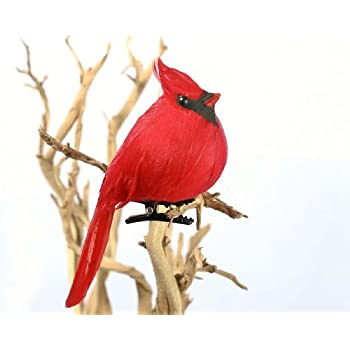 3 large bright red plump fat artificial cardinal birds for christmas tree ornaments. Black Bedroom Furniture Sets. Home Design Ideas