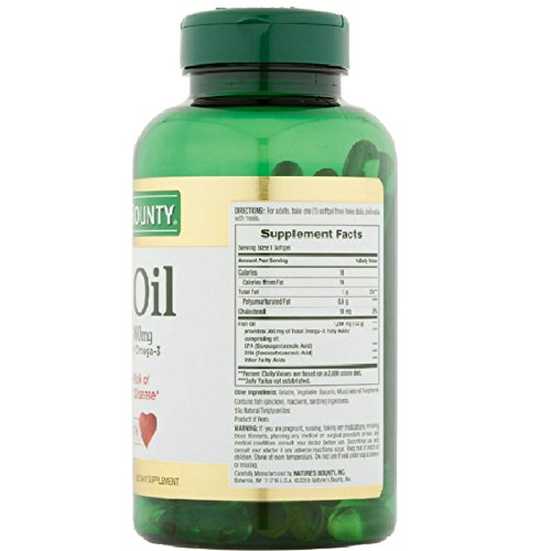 Nature's Bounty Odorless Fish Oil, 1200mg, Softgels, 60 ea (Pack of 11)