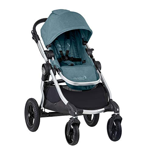 Baby Jogger City Select Stroller | Baby Stroller with 16 Ways to Ride, Goes from Single to Double Stroller | Quick Fold Stroller, Lagoon