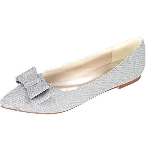 LOSLANDIFEN Women's Elegant Glitter Pionted Toe Wedding B...