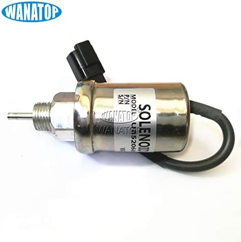 12V Fuel Shut Off Solenoid U85206452 185206452 U185206450 185206420 for Perkins