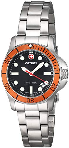 Wenger Battalion III Diver Black Dial Stainless Steel Ladies Watch 72339