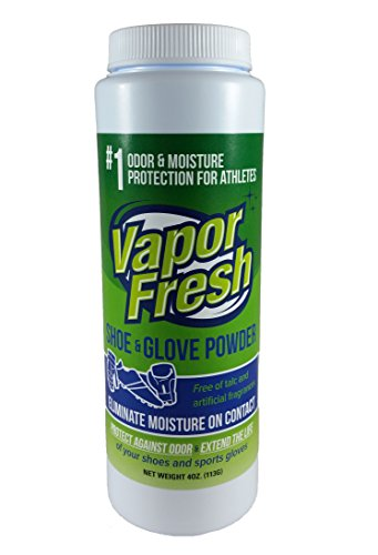 Vapor Fresh Foot Shoe and Glove Powder - 100% Natural Deodorizer - Powerful Foot Odor Eliminator for Stinky Feet - 6 Ounces (1 Pack)