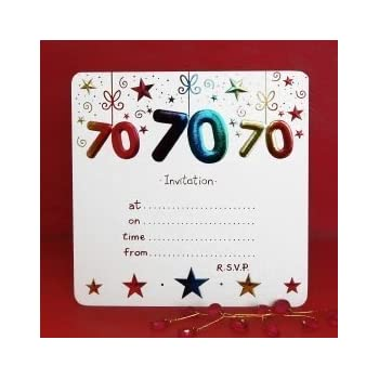 Amazon pack of 10 70th birthday party invitations home kitchen pack of 10 70th birthday party invitations filmwisefo