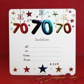 Invitations for 70th birthday party templates ukrandiffusion amazon com pack of 10 70th birthday party invitations home kitchen filmwisefo
