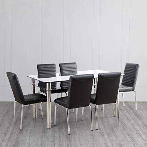 Home Centre Floris 6 Seater Dining Table Set with Chair