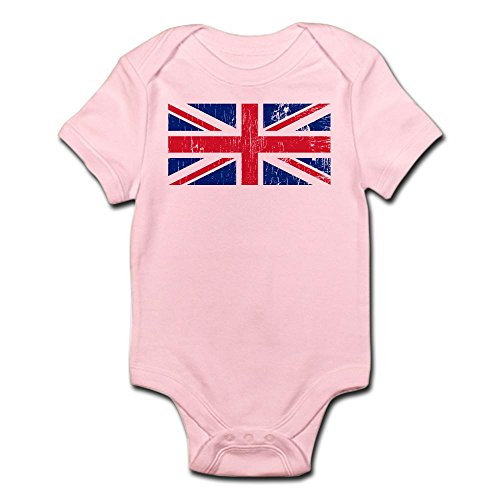 Retro Union - CafePress Vintage Union Jack Cute Infant Bodysuit Baby Romper