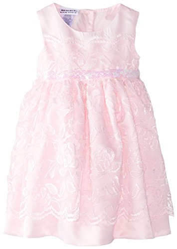 Blueberi Boulevard Baby Girls' Sleeveless Lace Bead Waist Dress, Pink, 18 Months