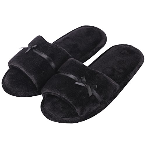 Toe Women Slippers on for Black Non Slip Slippers Open Slide House Indoor Forfoot qwTxH6tXpt