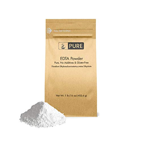 EDTA Disodium Powder (1 lb.) by Pure Organic Ingredients, Food & USP Pharmaceutical Grade (Also Available in 4 oz & 50 lb)