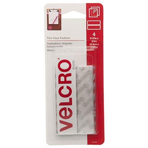 VELCRO Brand - Sticky Back,AOYASk - 3 1/2'' x 3/4'' Strips, 30 Sets, Clear