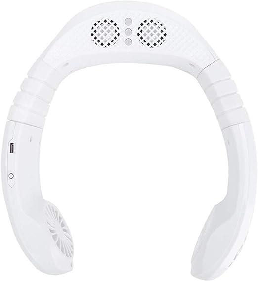 D&XQX Ventilador Cuello, Manos Libres Bluetooth Mini USB de Carga ...