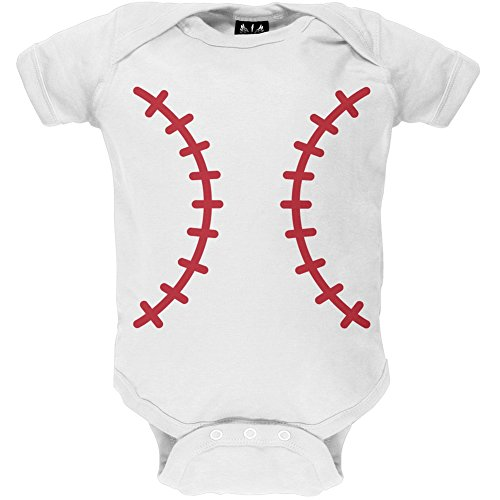 Old Glory Halloween Baseball Costume Baby One Piece - 12-18 months ()