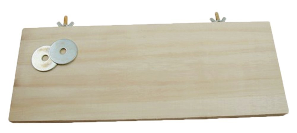 BleuMoo 13*28cm parrot standing square wooden springboard hamster thin pier