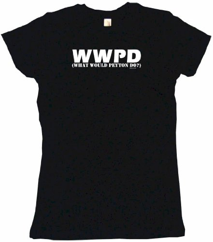 WWPD What Would Peyton Do Women's Tee Shirt XL-Black Babydoll