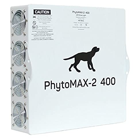 Black Dog LED PhytoMAX-2 400 Grow Lights | High Yield Full Spectrum Indoor Grow Light with BONUS Quick Start - 120v 420w Lamp