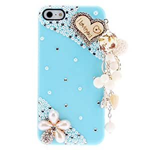 ZCL Lovely Pearls and Diamond Hard Case with Delicate Hanging Ornament for iPhone 5/5S (Assorted Colors) , White