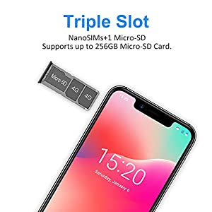UMIDIGI A3 Pro Mobile Phone Unlocked Dual 4G Volte Smart Phone 5.7″ Incell 19:9 Full-Screen Display 3GBRAM+16GB ROM 2+1 Triple Slot Face Unlock 12MP + 5MP Dual Camera Android 9.0[Space Grey]