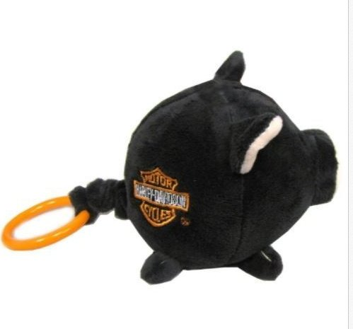Kids Preferred Harley Davidson Black Wild Wiggle Hog Plush Toy