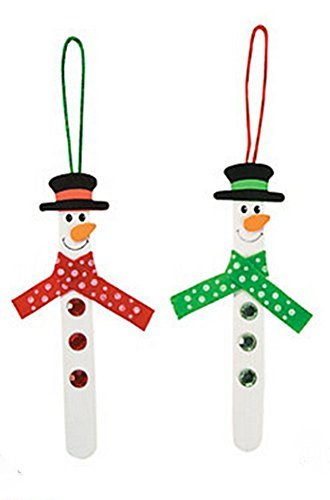 Stick Snowman Ornament Craft Kit (1 Dozent) by FX