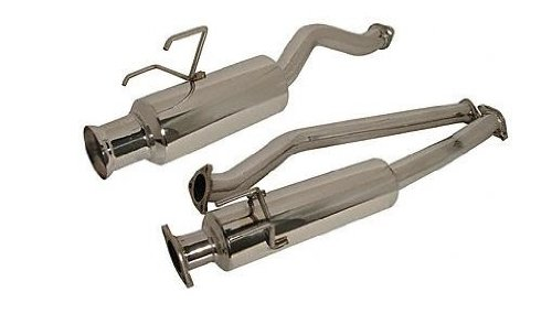 Injen (SES1838) Cat-Back Exhaust System with Cast Flange and Injen Embossed Muffler, Stainless Steel