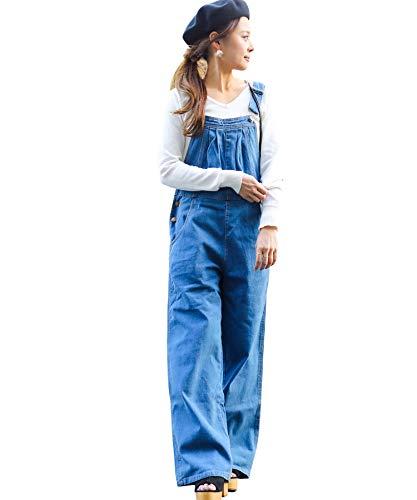 マウントくさび増加する(ファッションレター)FashionLetter オーバーオール 大きいサイズ デニムガウチョ レディース サロペット k110