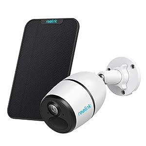 Reolink Go avec Panneau Solaire, Caméra Surveillance 4G/3G LTE Extérieure sans Fil, Caméra Solaire Supporter Carte SIM…