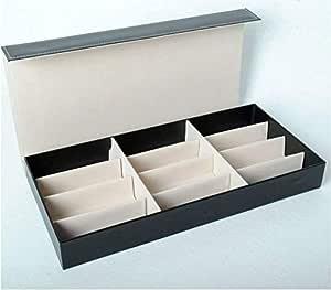 PU leather sunglasses storage box for 12 glasses creamy-white 001-3