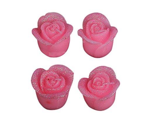 Da.Wa 4 Piezas Velas de Velas de Tealight de Rosa Claro ...