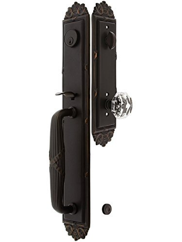Imperial Style Tubular Handleset in Oil Rubbed Bronze with Diamond Knobs Adn 2 3/4