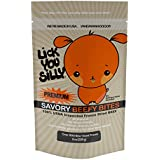 Lick You Silly Dog Treats Savory Beef Bites (8 Ounce), All Natural USDA Inspected Freeze Dried Beef - No Gluten, Grain and Wheat – Dog Training Treats and Pet Supplies