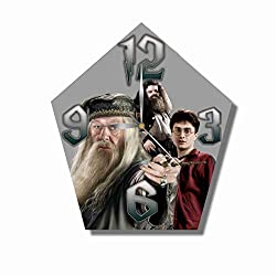 Harry Potter 11.8'' Handmade Wall Clock - Get Unique décor for Home or Office - Best Gift Ideas for Kids, Friends, Parents and Your Soul Mates