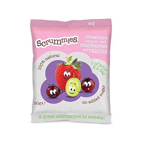Scrummies Strawberry Flavour Cranberries & Raisins 20g
