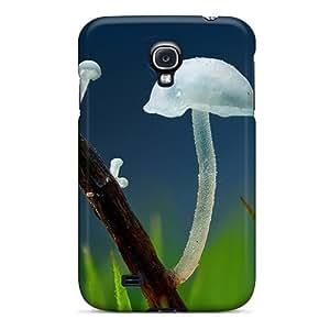 Galaxy S4 Case Cover Skin : Premium High Quality Transparent Mushrooms Nature Case