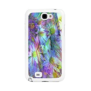 Cute Hipster Colorful Daisy Flower Pattern Hard Case Cover for Samsung Galaxy Note 2 Kimberly Kurzendoerfer